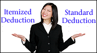 itemized vs. standard deduction taxes