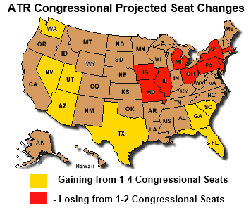 congressional seat changes and taxes