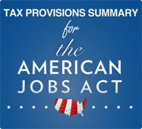 tax provisions summary for american jobs act 2011