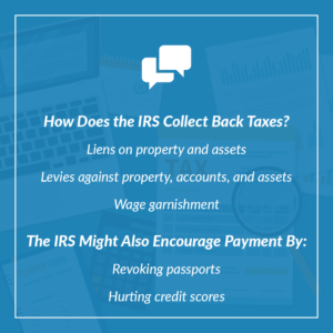 how the IRS collects taxes