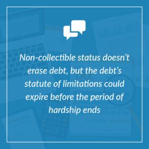 non-collectible status