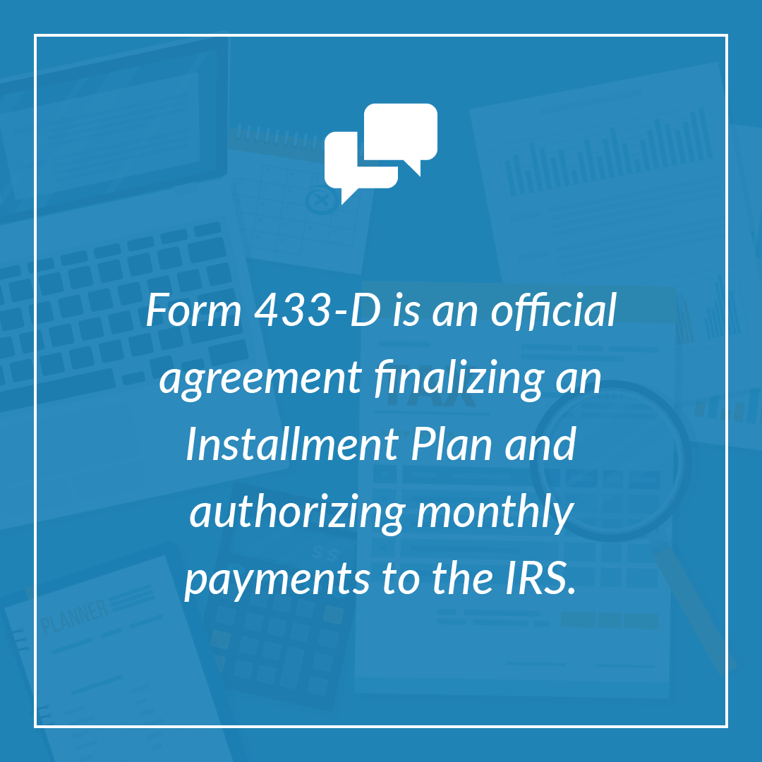 IRS Form 433-D